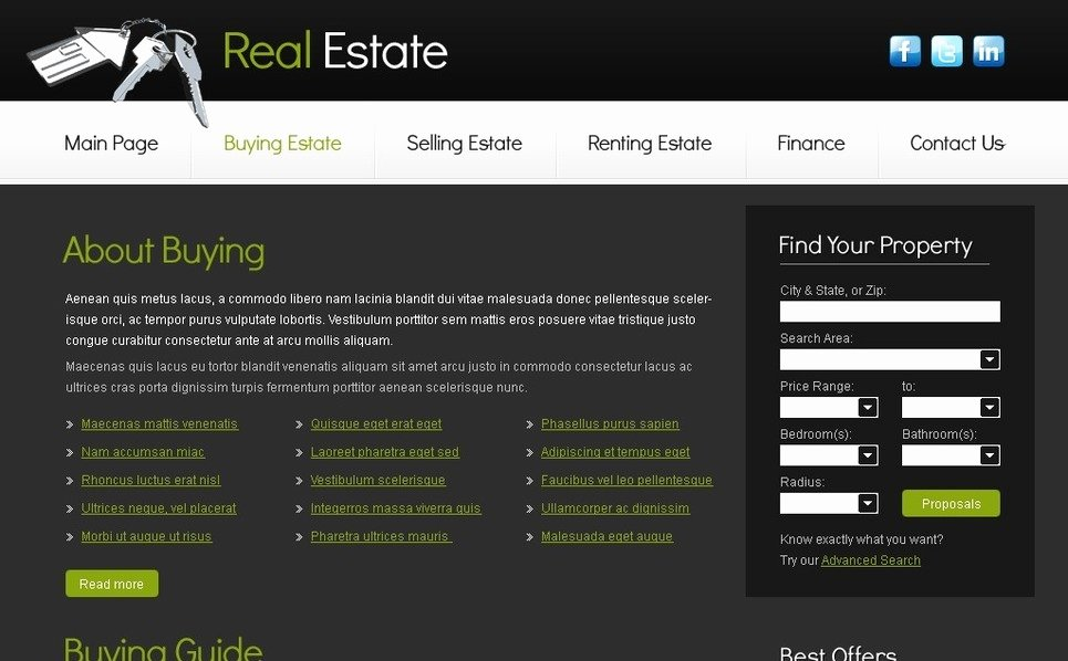 Real Estate Website Template Best Of Free Real Estate Business Template