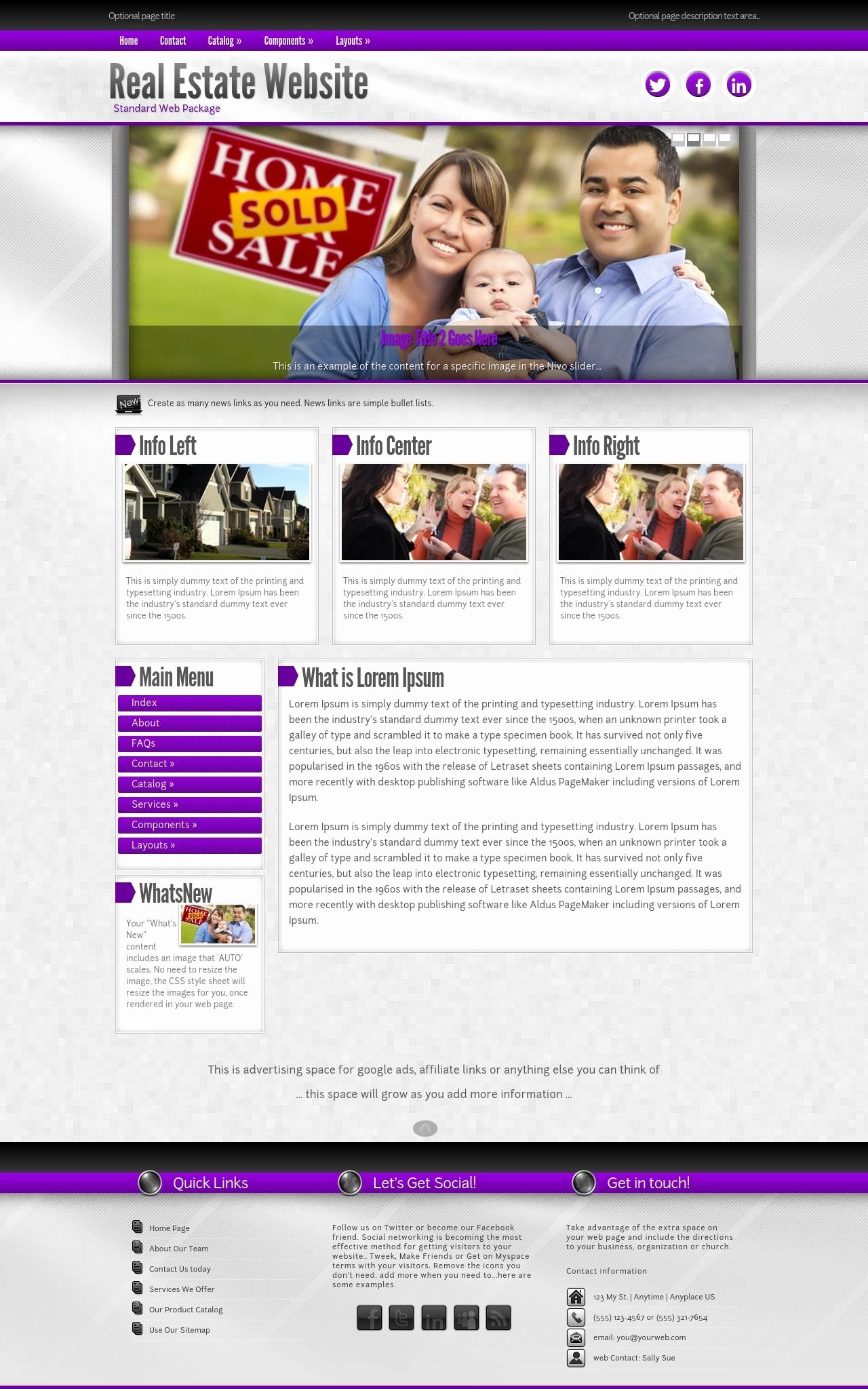 Real Estate Website Template Best Of Impression Real Estate Purple Grey2