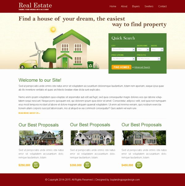 Real Estate Website Template Elegant Real Estate Business Website Template Psd