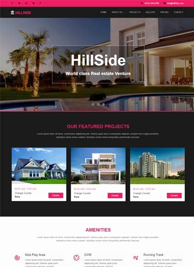 Real Estate Website Template Elegant Ux & Ui Design Google