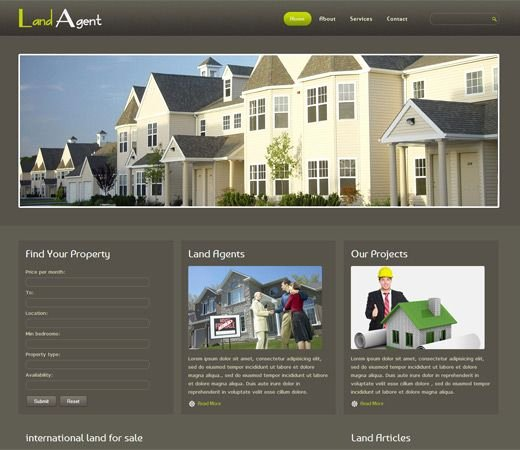 Real Estate Website Template Fresh Free Website Template Css HTML5 Land Agent Real Estate