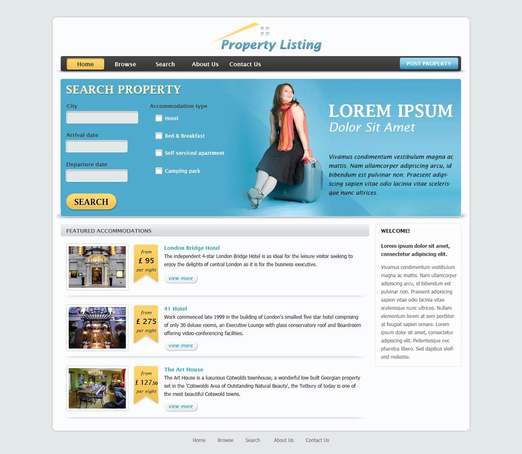 Real Estate Website Template Fresh Real Estate Website Template
