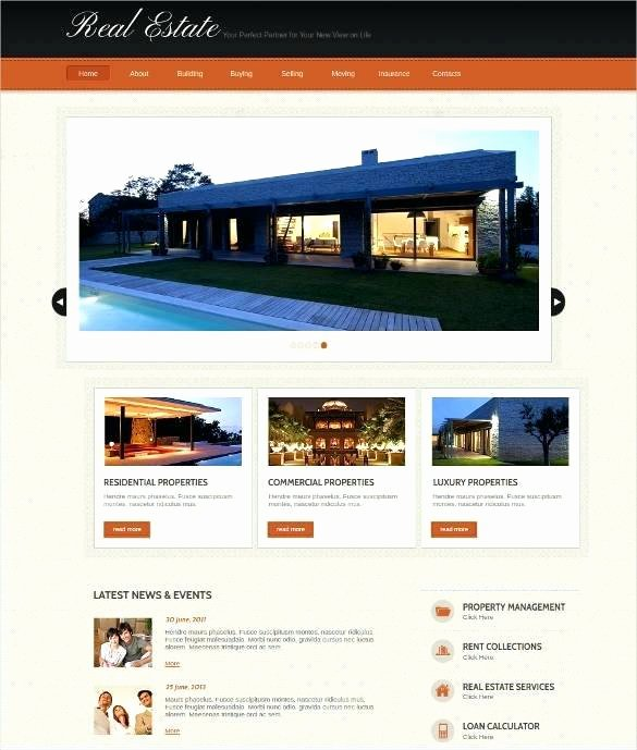 Real Estate Website Template Inspirational Homeowners association Brochure Template Fice Property