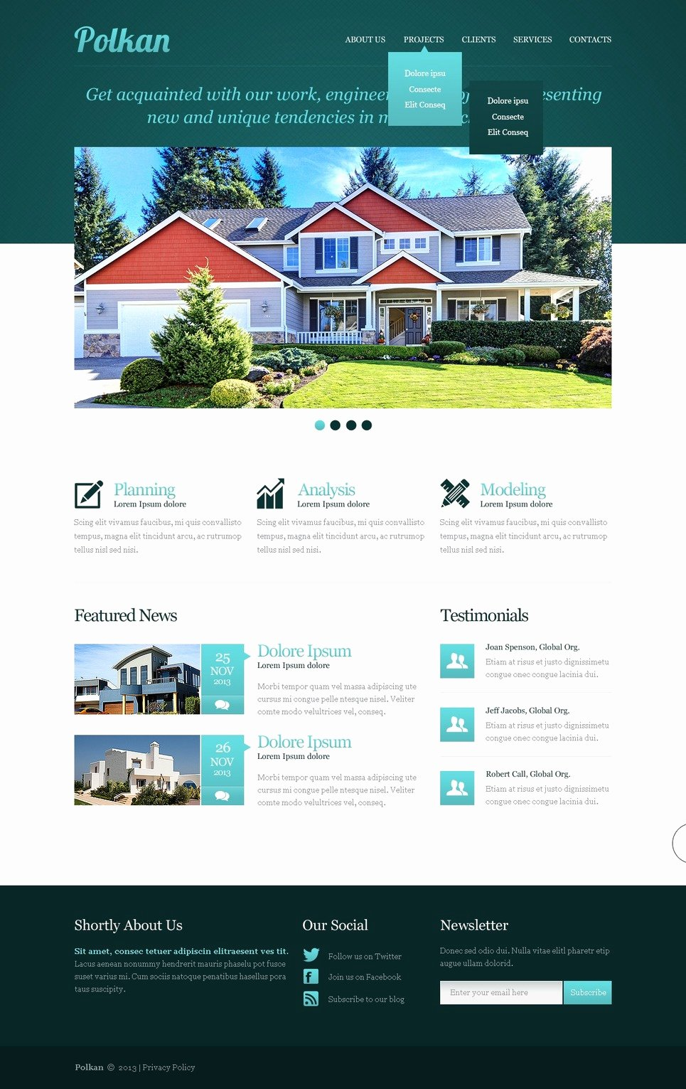 Real Estate Website Template Inspirational Real Estate Agency Responsive Website Template