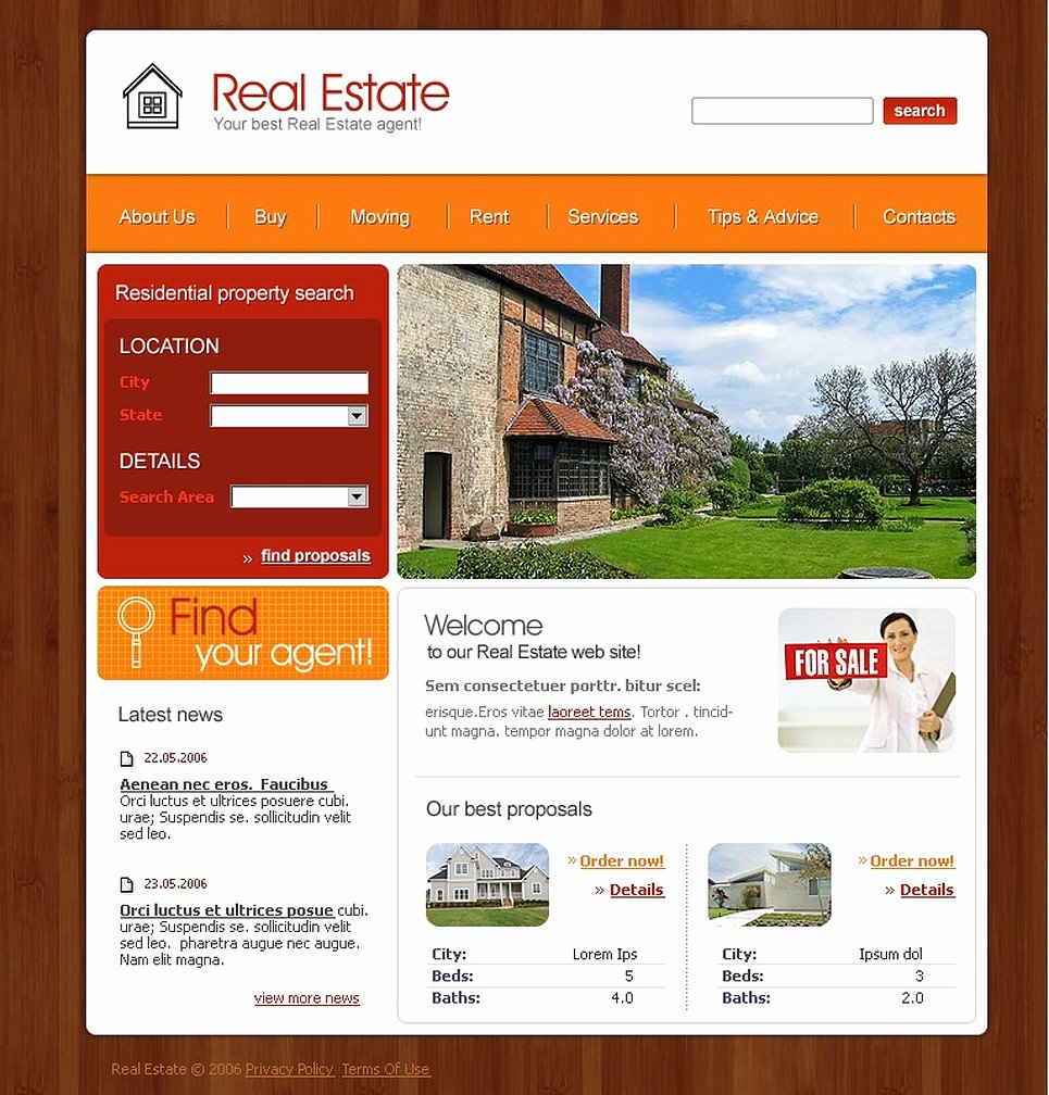 Real Estate Website Template Inspirational Real Estate Agency Website Template