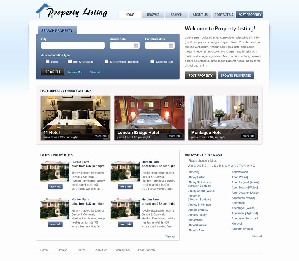Real Estate Website Template Inspirational Real Estate Website Template