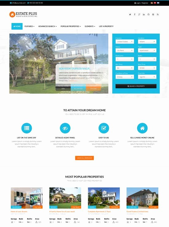 Real Estate Website Template Lovely 80 Best Real Estate Website Templates Free & Premium