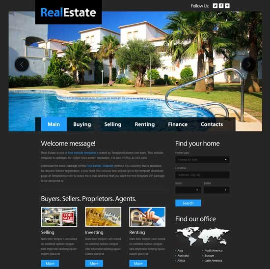 Real Estate Website Template Luxury 50 Best Real Estate Website Templates Free & Premium