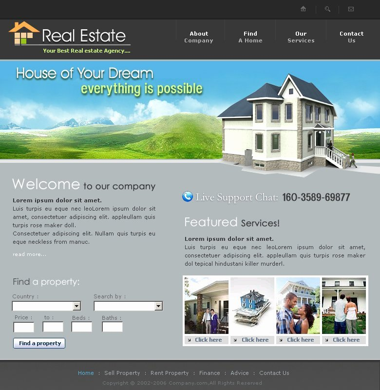 Real Estate Website Template Luxury Free Real Estate Website Template