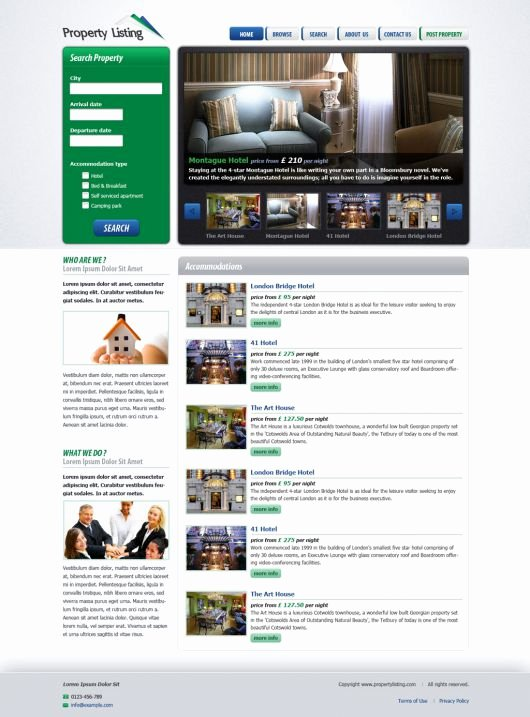 free real estate website template 74
