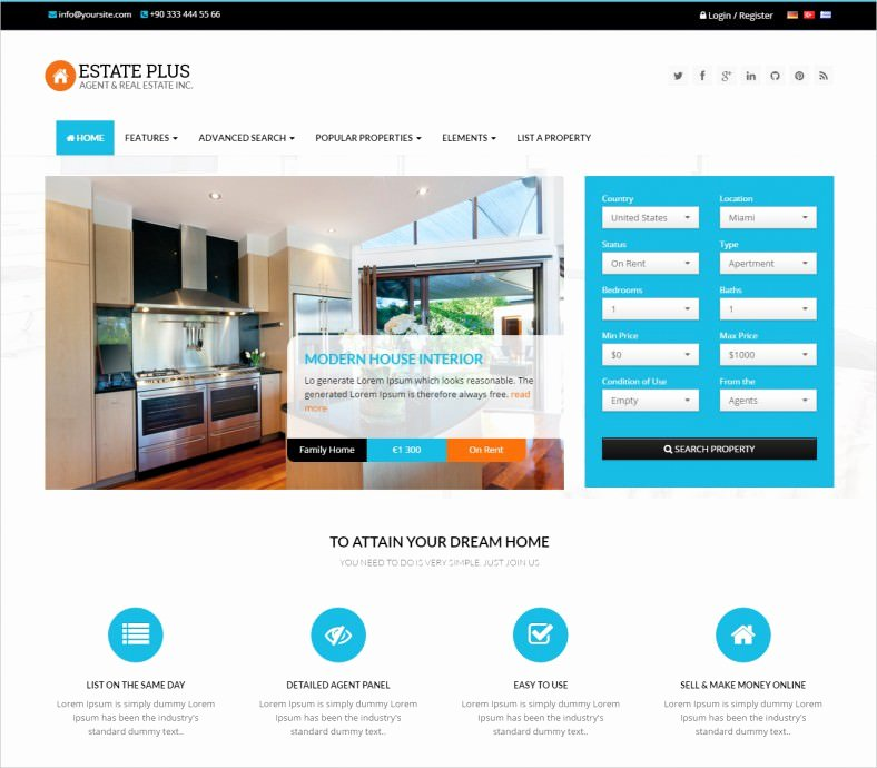 Real Estate Website Template New 10 Best Real Estate Website Templates