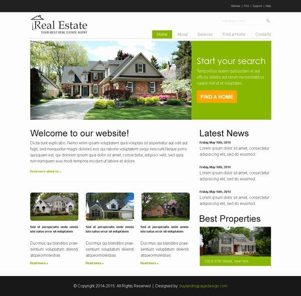 Real Estate Website Template New Converting Real Estate Website Psd 005