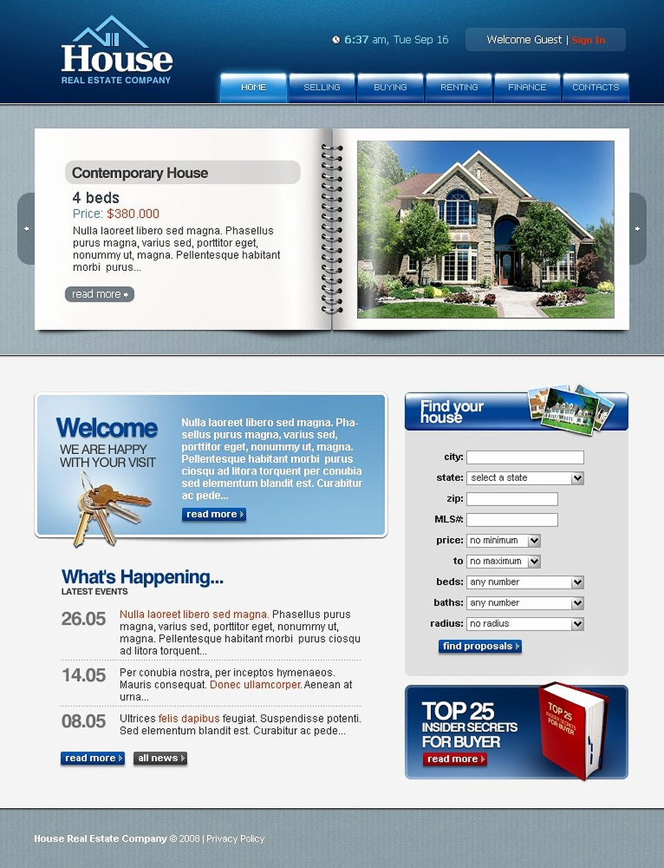 Real Estate Website Template New Real Estate Agency Website Template