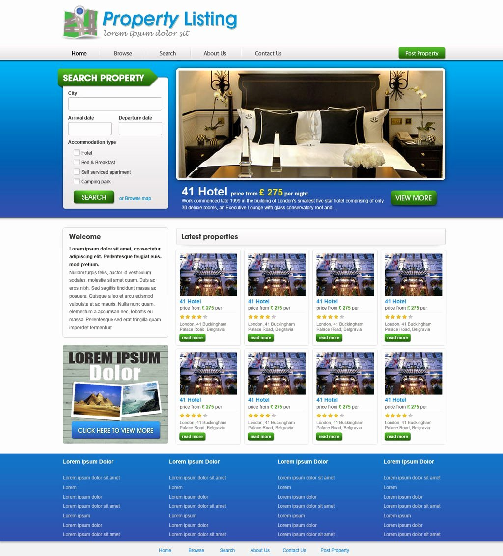 Real Estate Website Template New Real Estate Website Template