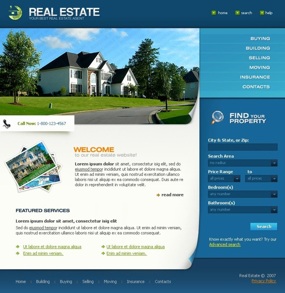 Real Estate Website Template Unique Free Full Package Templates