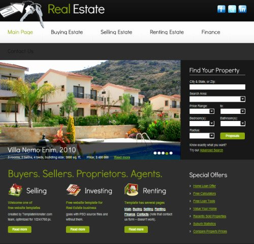 Real Estate Website Template Unique Realestate Templates