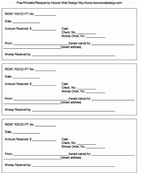 Receipt Template Free Printable Awesome Free Rent Receipt Template and What Information to Include