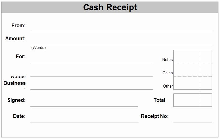 Receipt Template Free Printable Beautiful Free Receipt forms