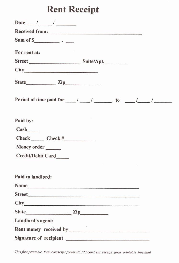 Receipt Template Free Printable Best Of 11 Best Of Free Printable Payment Receipt form
