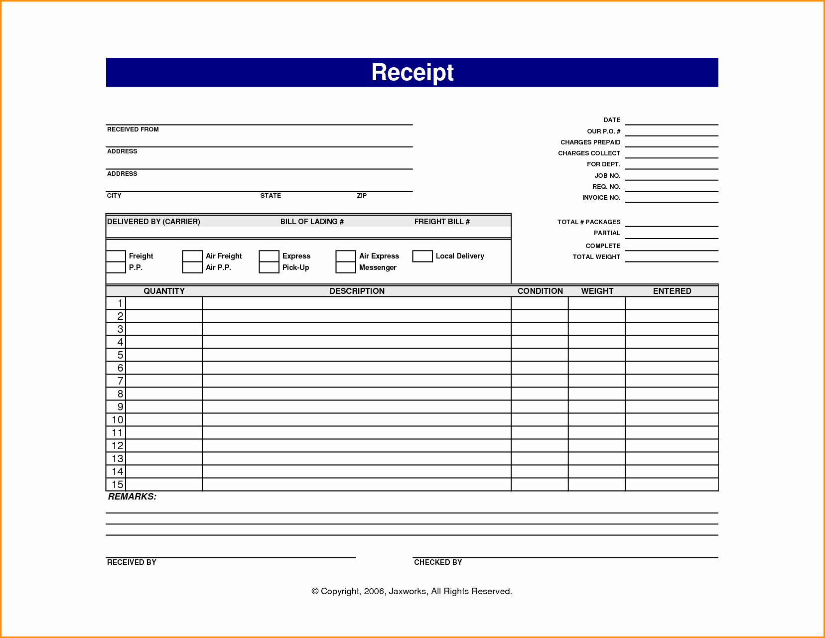 Receipt Template Free Printable Elegant 13 Online Receipt Template