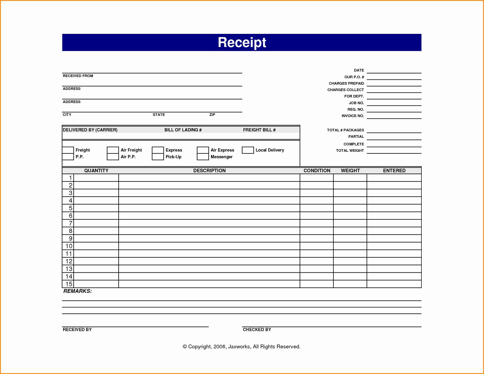 Receipt Template Free Printable Elegant 13 Online Receipt Template