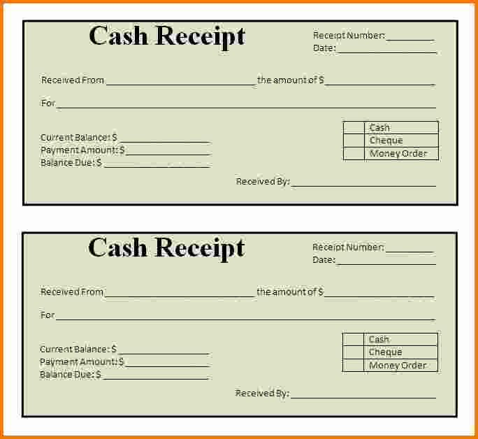 Receipt Template Free Printable Fresh 7 Printable Receipts