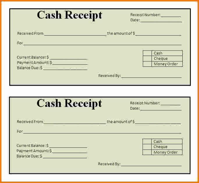 Receipt Template Free Printable Fresh 7 Printable Receipts