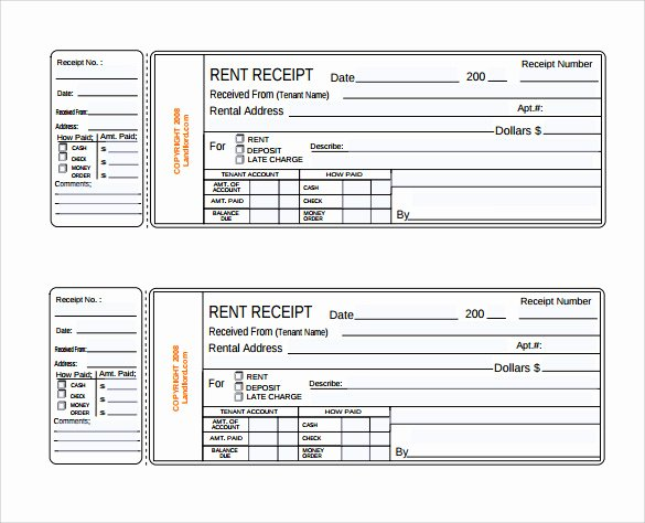Receipt Template Free Printable Fresh Rent Receipt Template 13 Download Free Documents In Pdf