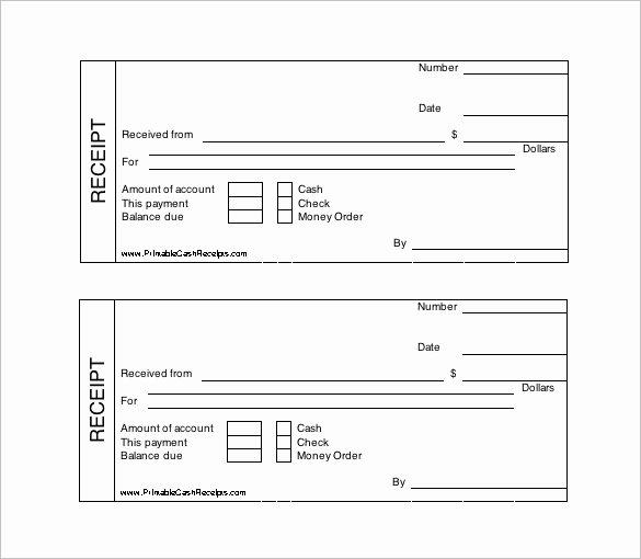 Receipt Template Free Printable Inspirational 121 Receipt Templates Doc Excel Ai Pdf