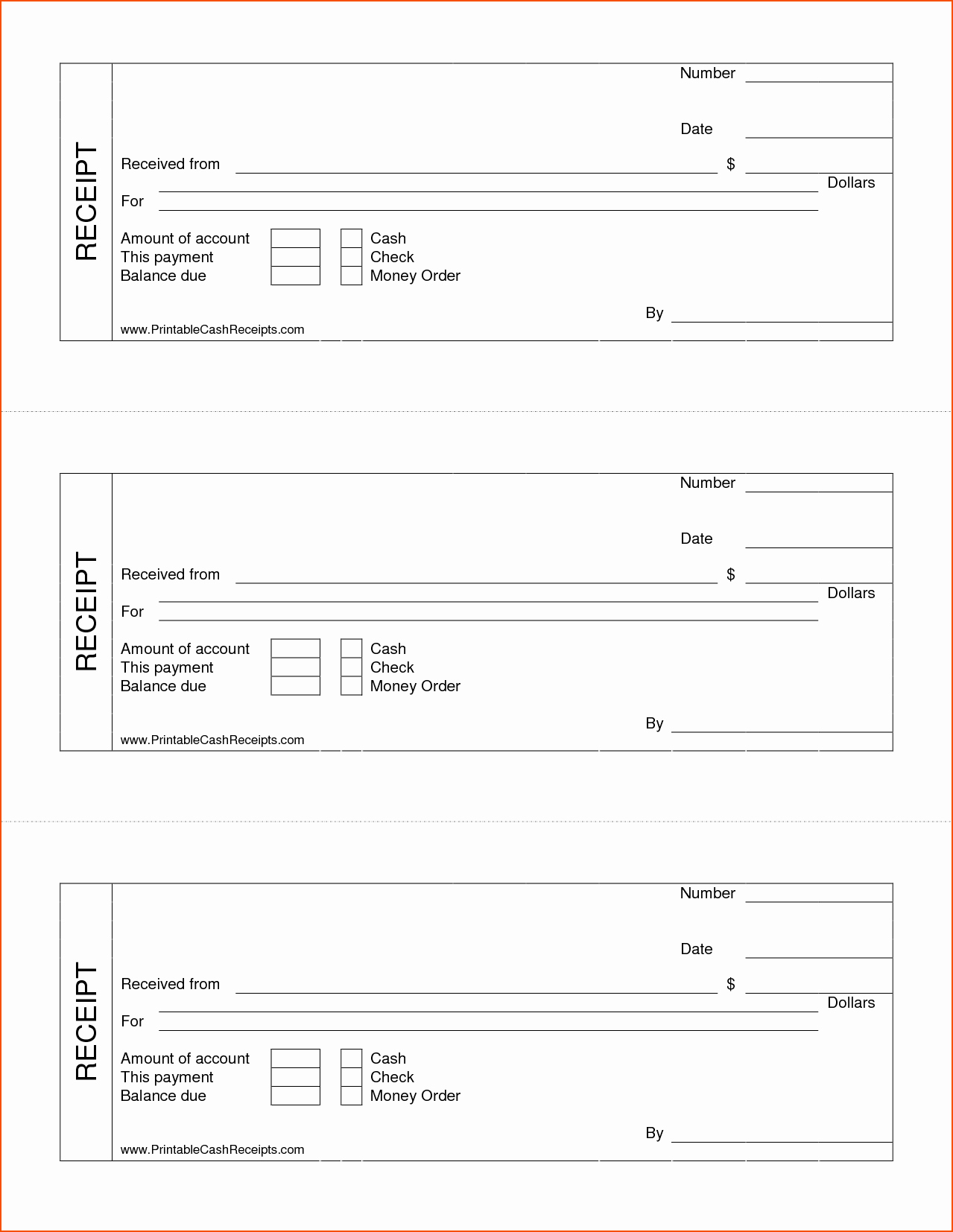 Receipt Template Free Printable Luxury 7 Printable Cash Receipt Bookletemplate
