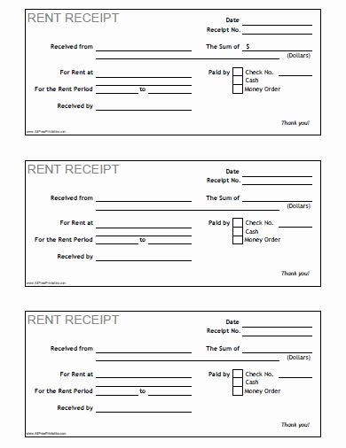 Receipt Template Free Printable New Free Printable Rent Receipt Template