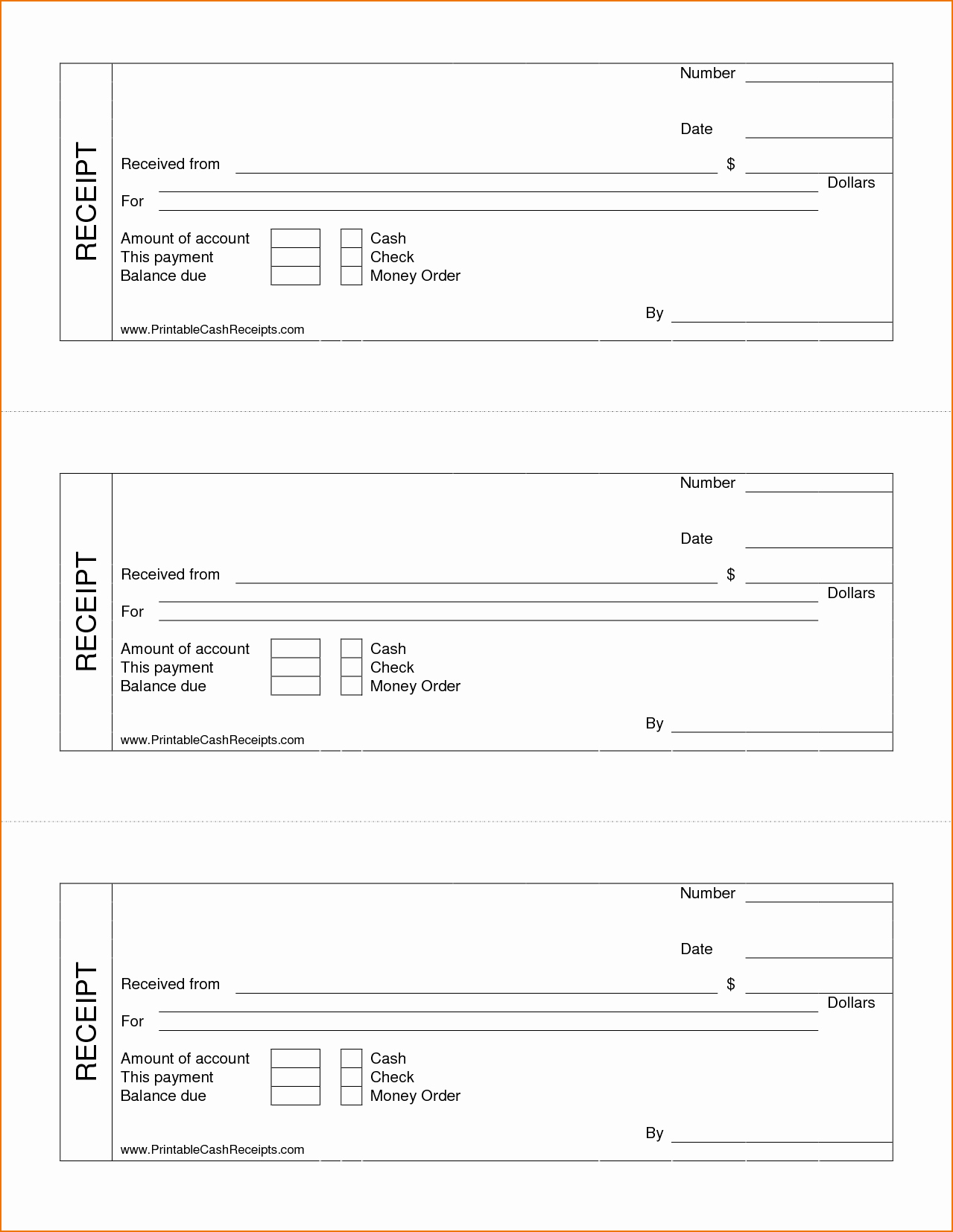 Receipt Template Free Printable New Printable Receipt for Services
