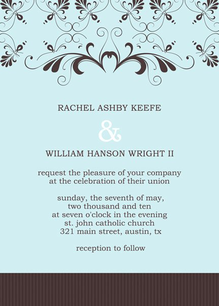 Reception Cards Template Free Awesome Reception Invitation Template Invitation Template