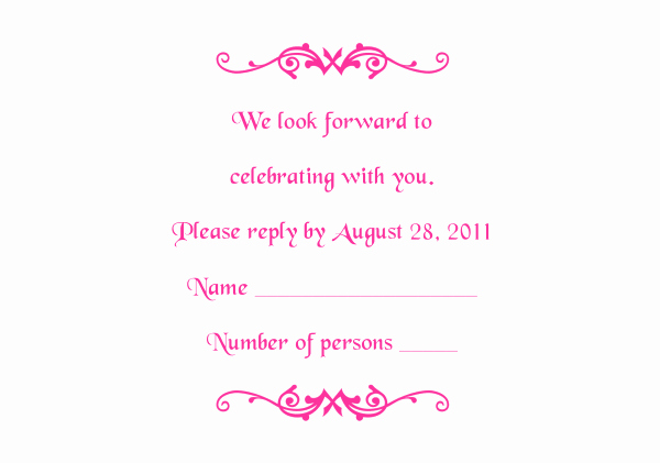 Reception Cards Template Free Awesome Response Card Templates 1 and 2