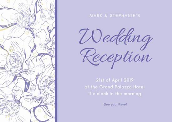 Reception Cards Template Free Beautiful Customize 607 Wedding Reception Card Templates Online Canva