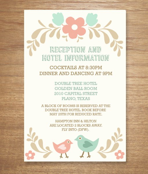 Reception Cards Template Free Best Of Folksy Love Birds – Download & Print