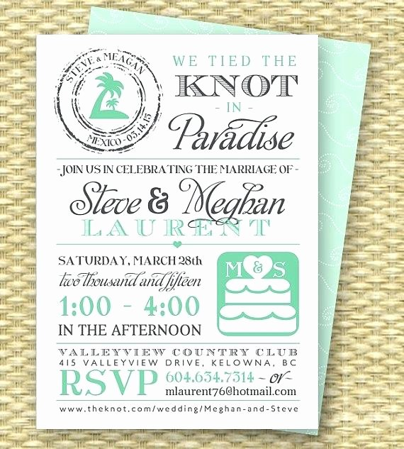 Reception Cards Template Free Best Of Free Post Wedding Reception Invitation Templates