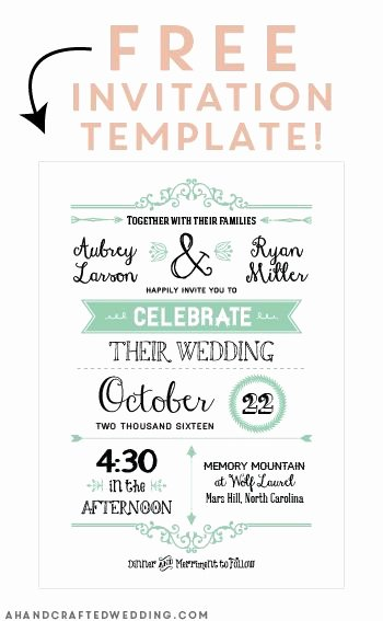 Reception Cards Template Free Elegant Free Printable Wedding Invitation Template