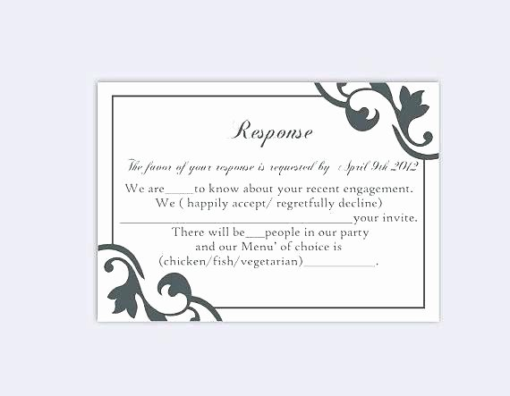 Reception Cards Template Free Fresh Reception Card Template Inspirational Wedding Response