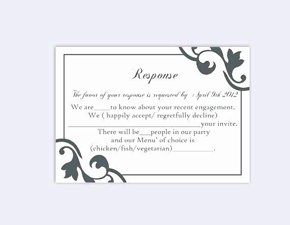 Reception Cards Template Free Fresh Reception Card Template Inspirational Wedding Response