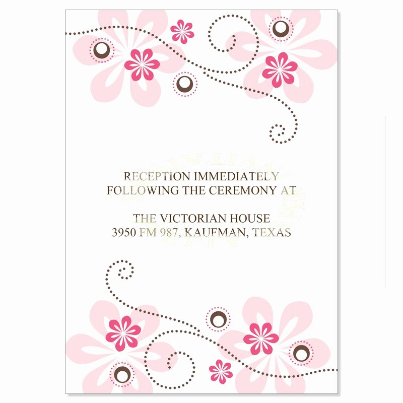 Reception Cards Template Free Fresh Wedding Reception Card Template Canva Cream and Blue