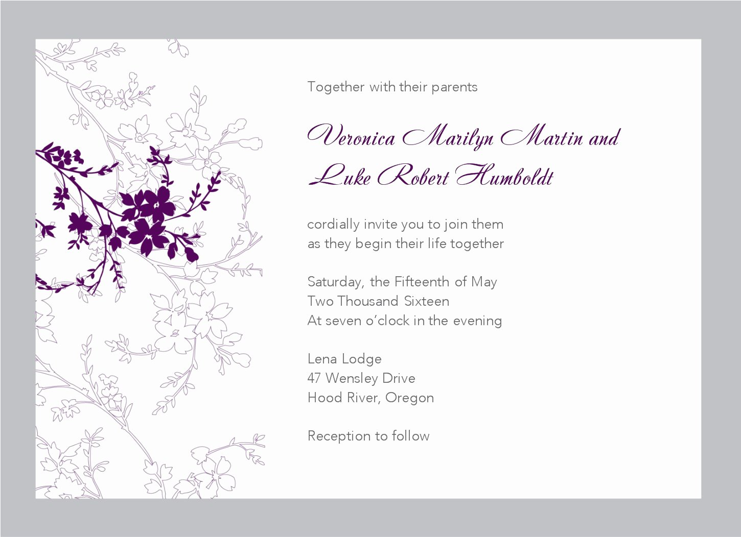 Reception Cards Template Free Fresh You are Cordially Invited Templates
