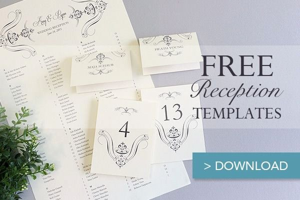 Reception Cards Template Free Inspirational Free Printable Wedding Reception Templates
