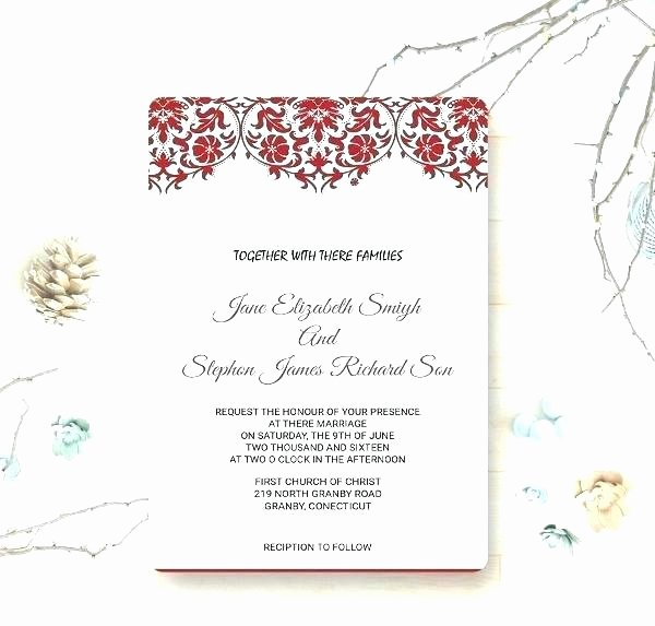 Reception Cards Template Free Inspirational S Wedding Reception Card Template Free Invitation