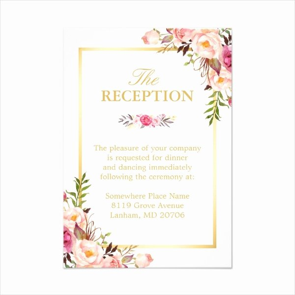 Reception Cards Template Free Lovely 14 Wedding Reception Card Designs & Templates Psd Ai
