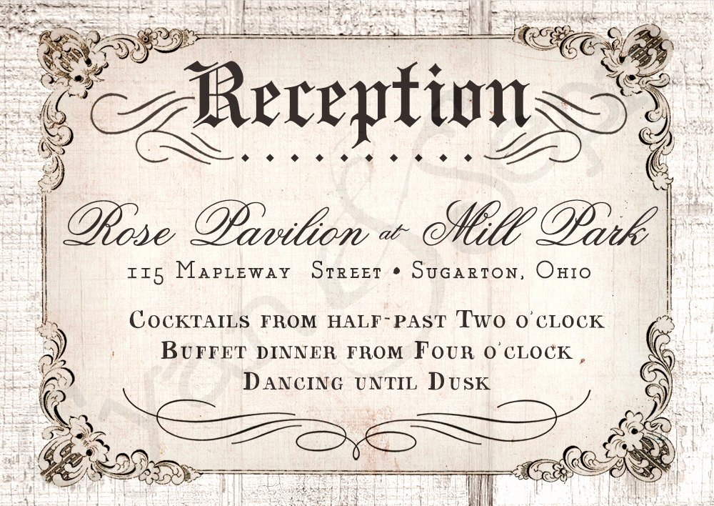 Reception Cards Template Free Lovely Perfect Finishing Wedding Invitation Reception Card