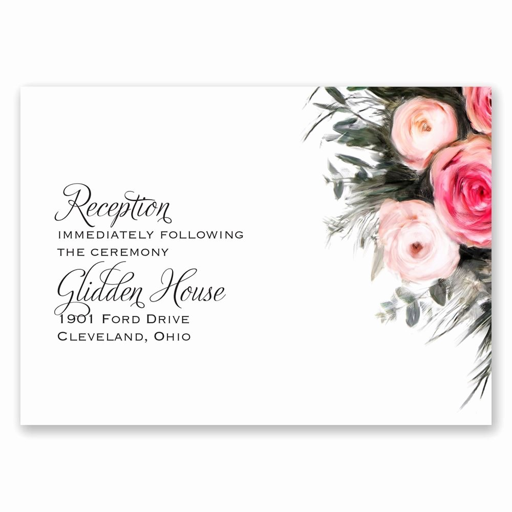 Reception Cards Template Free Unique Ethereal Garden Reception Card