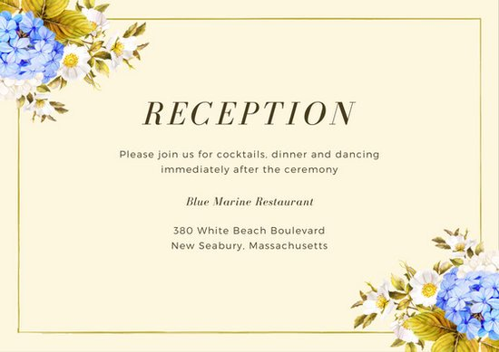 Reception Cards Template Free Unique Pink Flowers Reception Card Templates by Canva