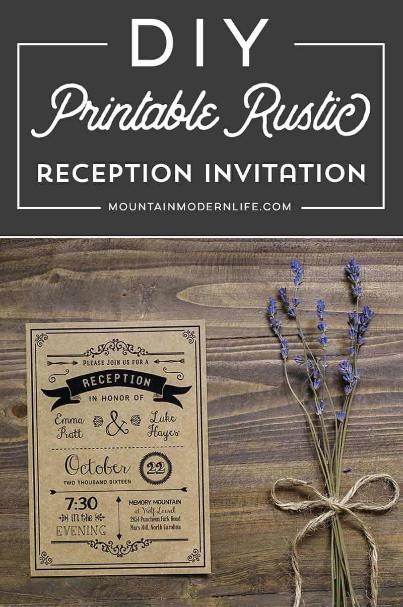 Reception Cards Template Free Unique Printable Black Diy Reception Ly Invitation Template