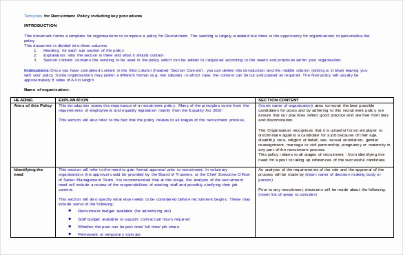 Recruiting Strategic Plan Template Best Of Recruitment Strategy Template – 13 Free Word Pdf